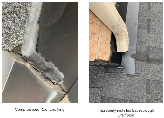 compromised roof chaulking
